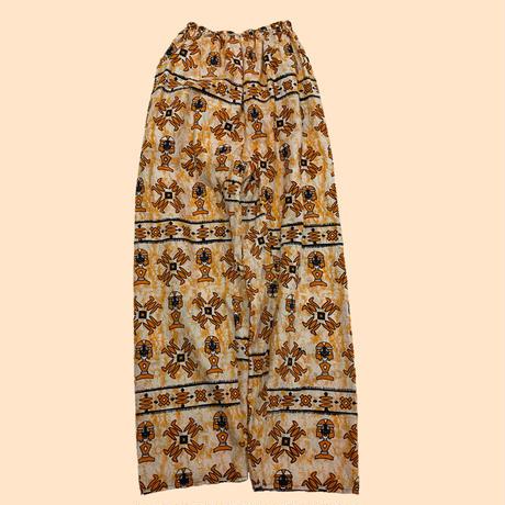 vintage African batik easy pants