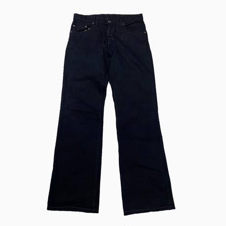 vintage euro 70s Levis black denim pants TALONジップ 後染め