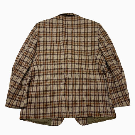 vintage us 80s check poly jacket
