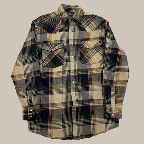 vintage euro heavy flannel check shirt