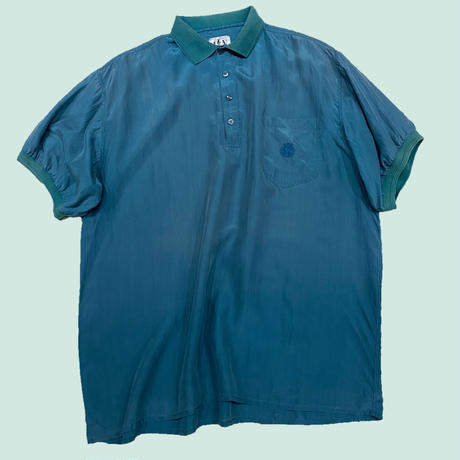vintage euro silk polo shirt