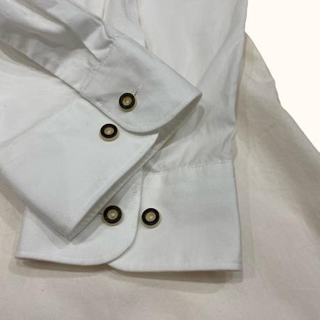 vintage euro Tyrol print white shirt