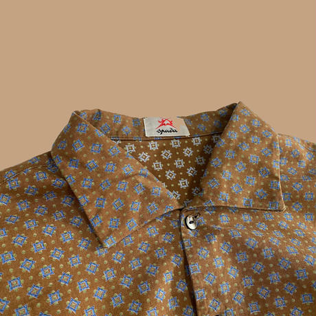 vintage euro shark collar shirt