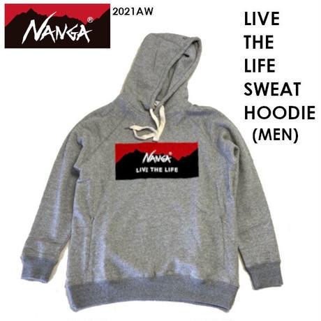NANGA ナンガ LIVE THE LIFE SWEAT HOODIE MEN リブ ザ ライフ スウェット フーディー メンズ NANGA DOWN WEAR 2021 AUTUMN/WINTER