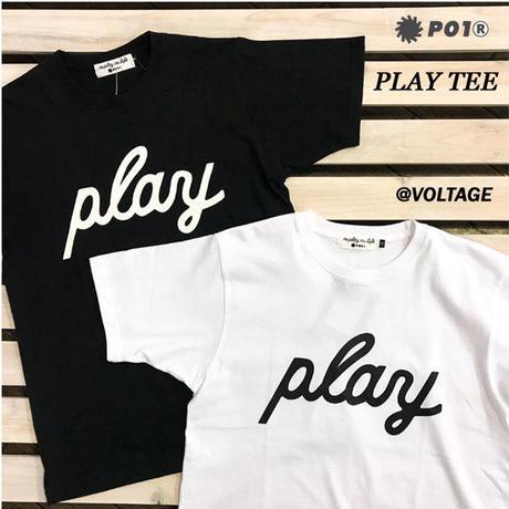PO1 PLAY DESIGN プレイデザイン PLAY TEE 半袖 Tシャツ BLACK WHITE アウトドア キャンプ PLAYDESIGN