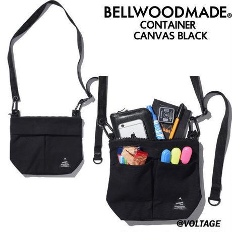 BELLWOODMADE ベルウッドメイド CONTAINER CANVAS BLACK スモールショルダーバッグ バッグ 男女兼用