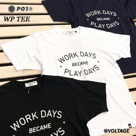 PO1 PLAY DESIGN プレイデザイン WP TEE 半袖 Tシャツ NAVY WHITE BLACK アウトドア キャンプ PLAYDESIGN