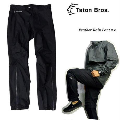 Teton Bros. ティートン ブロス Feather Rain Pant 2.0 Black  ユニセックス レインウエア パンツ  男女兼用 2019 SS TB191-02M
