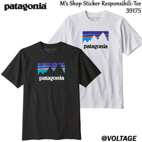 パタゴニア patagonia M's Shop Sticker Responsibili-Tee 39175 メンズ・ショップ・ステッカー・レスポンシビリティー 2019 春モデル