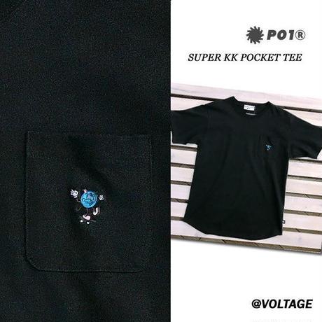 PO1 PLAY DESIGN プレイデザイン SUPER KK POCKET TEE 半袖 Tシャツ BLACK Mサイズ アウトドア キャンプ ポケット付き PLAYDESIGN