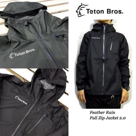 Teton Bros. ティートン ブロス Feather Rain Full Zip Jacket 2.0 Black Gray ユニセックス  男女兼用 2019 SS TB191-01M