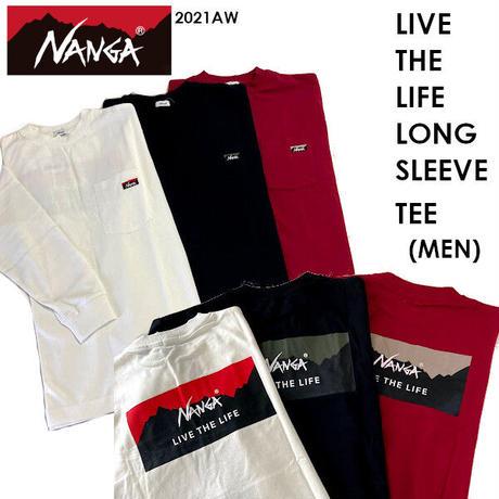 NANGA ナンガ LIVE THE LIFE LONG SLEEVE TEE MEN リブ ザ ライフ ロング スリーブ ティー メンズ 2021 AUTUMN/WINTER