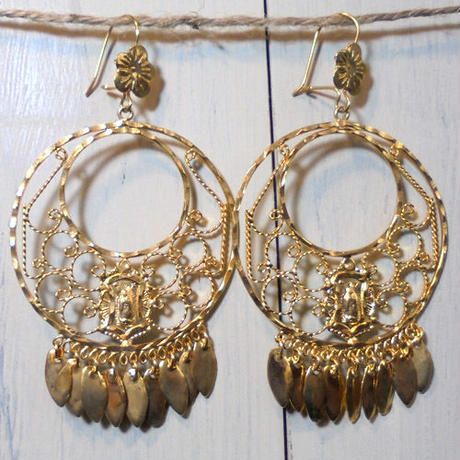 Aretes de Oro(Virgen de Guadalupe)#1
