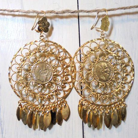 Aretes de Oro(moneda)