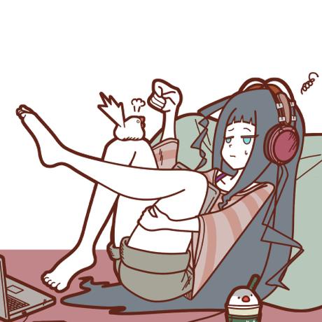 【ポストカード】少女ト文鳥ト珈琲②