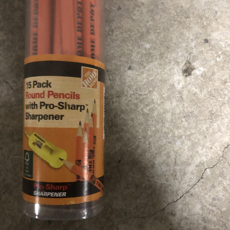 The Home Depot  15pack pencil and serpner