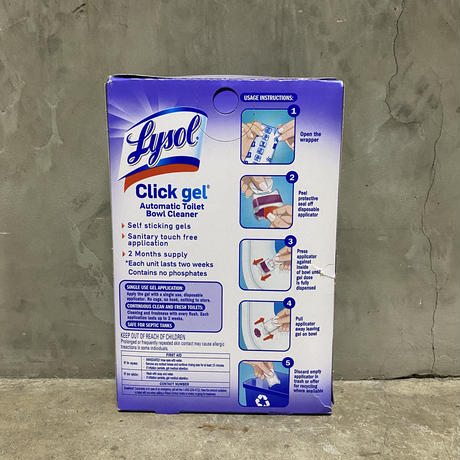 "Lysol ClickGel ""Automatic toilet cleaner"""