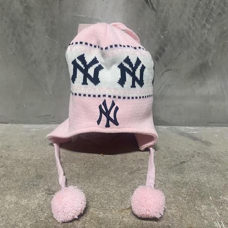 【Girls】90's Twins MLB NY Yankees Tassel Beanie