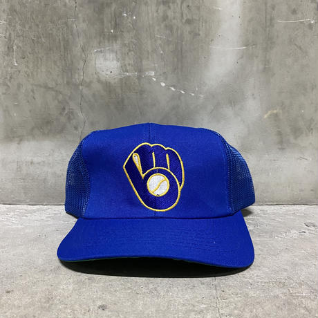 【USED】90'sTWINS MLB Milwaukee Brewers meshback