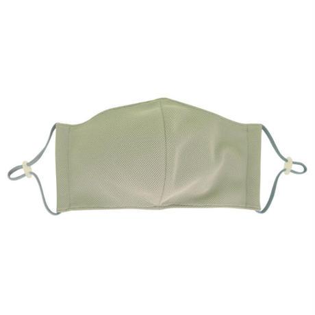 男女兼用 メッシュ夏マスク  抗菌防臭立体マスク (洗い替え用2枚入り)  #グレー