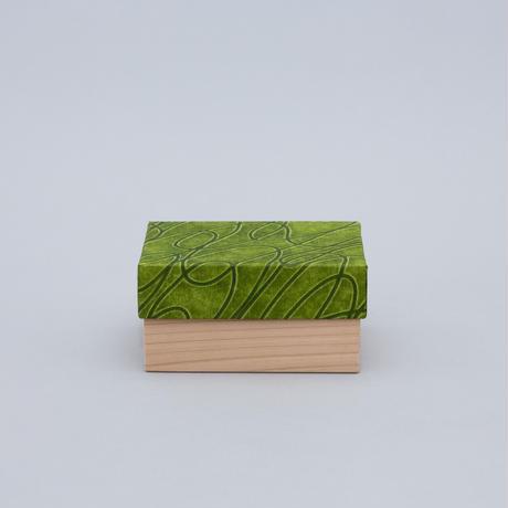 和紙箱・curve(うぐいす)