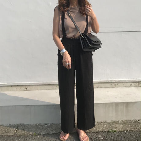 suspenders wide pants