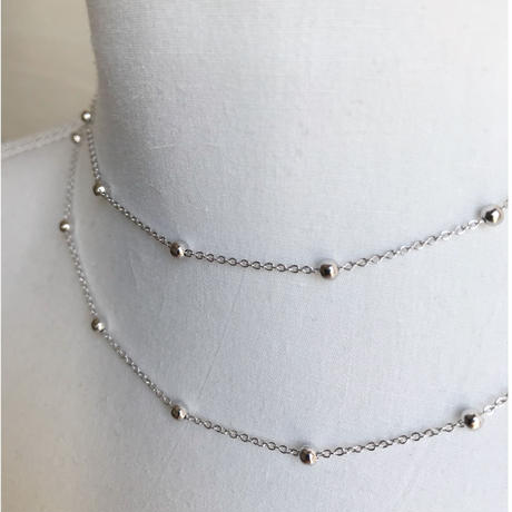【送料込】silver 925  ball chain necklace