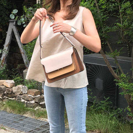 《再販》leather box bag (camel)
