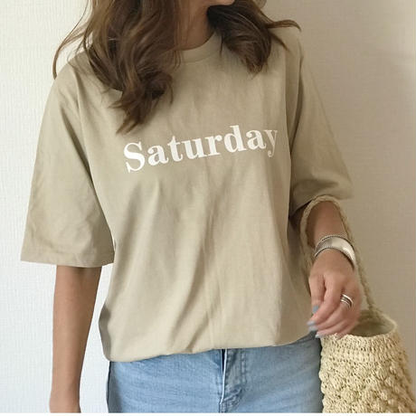 『Saturday』logo T
