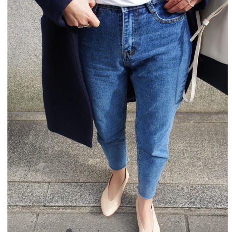 straight fit  ankle denim