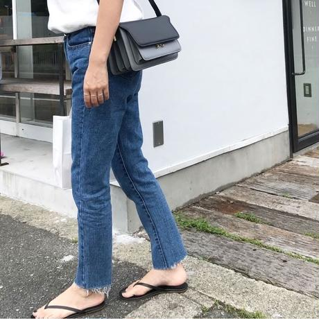 《再販》straight fit  ankle denim