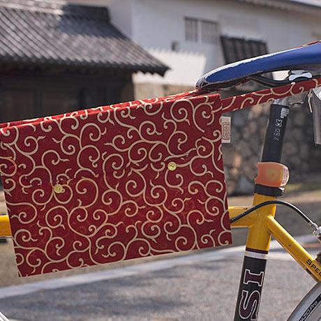 テキスタイルサコッシュ・唐草rosso