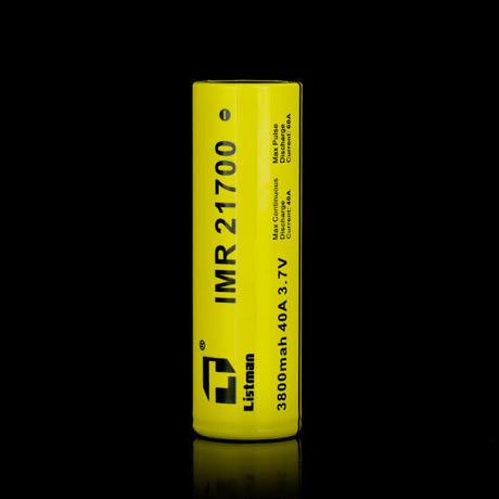 Listman IMR 21700 バッテリー 3800mAh/40A