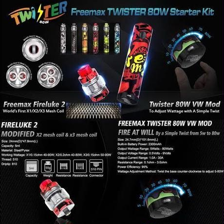 FreeMax TWISTER 80w スターターキット