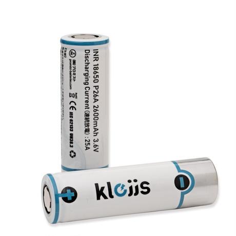KLEJJS 18650 バッテリー