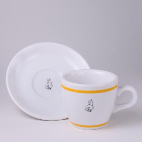 コーヒーカップ&ソーサー yellow