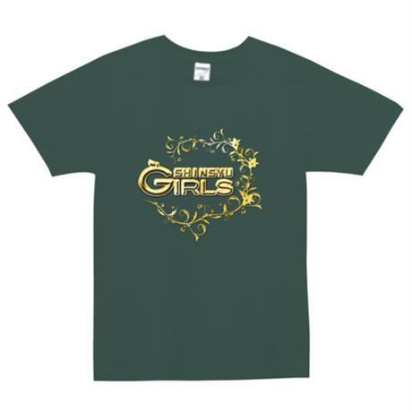 ユーロTシャツ|深緑|金ロゴ