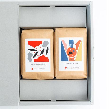 ギフトボックス コーヒー豆2個セット