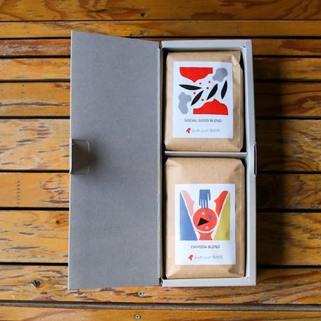 ハーフギフトボックス |コーヒー豆2個セットA