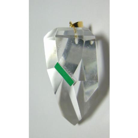 K18 左巻き水晶(美晶堂・オリジナル)LSQ-011