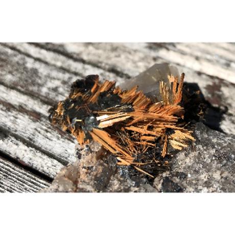 ルチレイテッドクオーツ・ゴールドルチル原石 コレクションアイテム RLQ-012