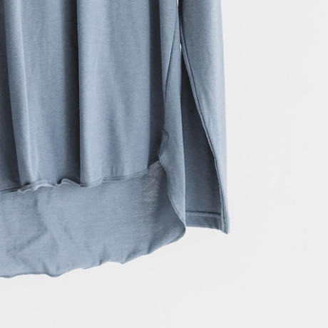 Cotton modal long sleeve pocket cut and sew (frost gray)