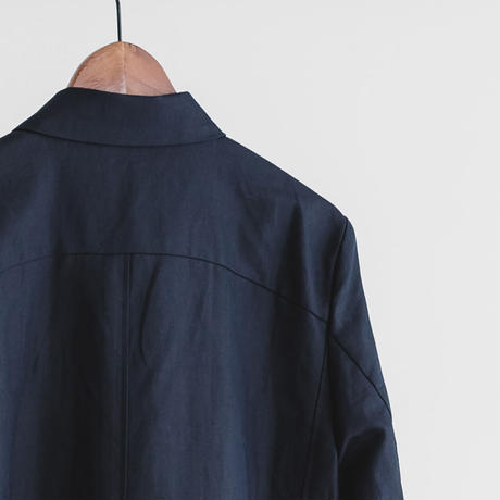Fly front soutien collar coat (navy)