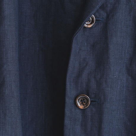 Linen weather cloth set up jacket (navy)