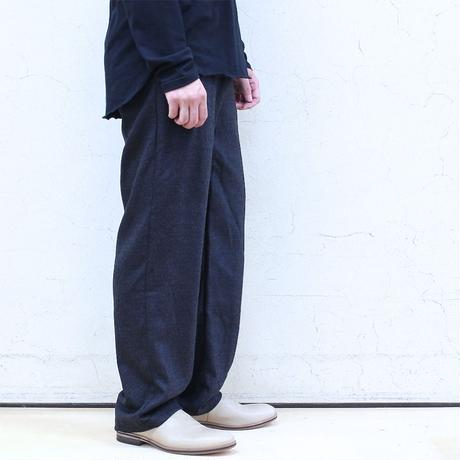 Wool botany wide pants (charcoal)