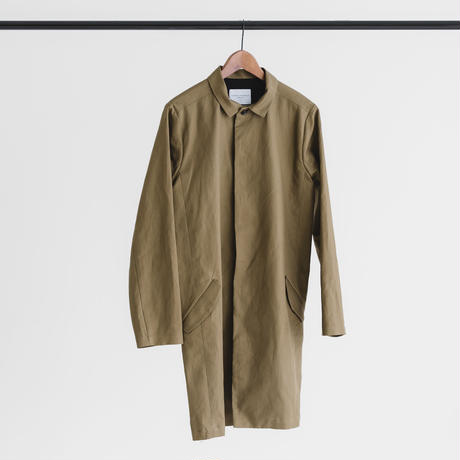 Fly front soutien collar coat (olive)