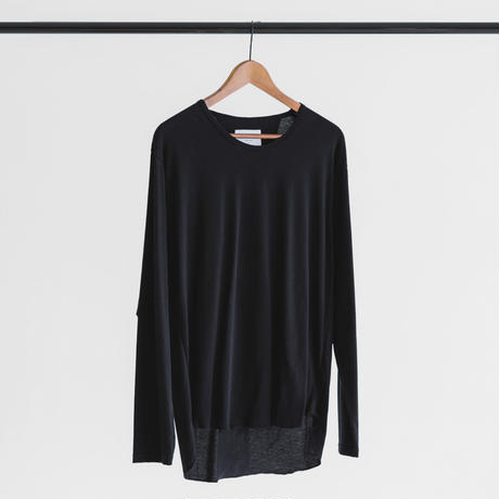 Tulufan Cotton long sleeve cut and sew (black)