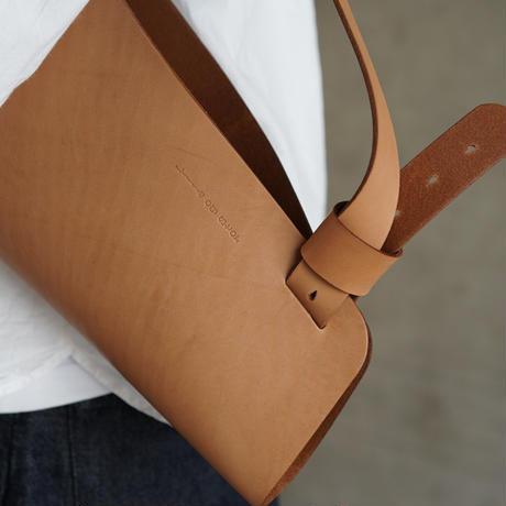 flower bag L    (キャメル)