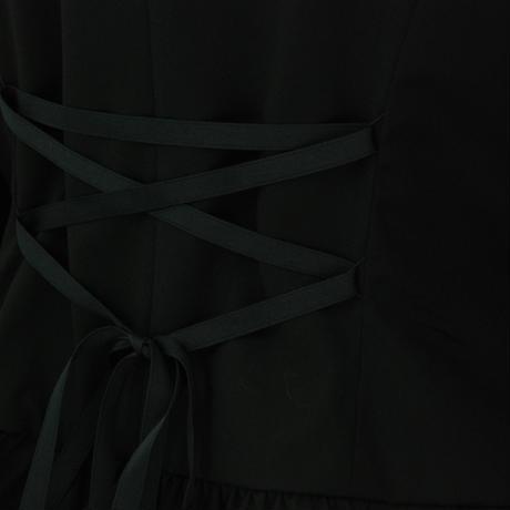 ショールカラーフリルジャケット