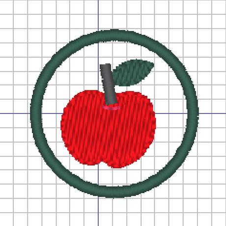りんごの刺繍データー